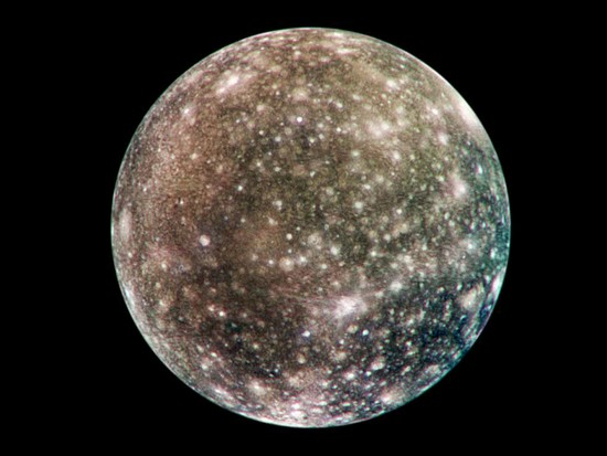 Callisto, satellite naturel de Jupiter